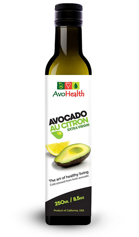 product avocado oil with citron