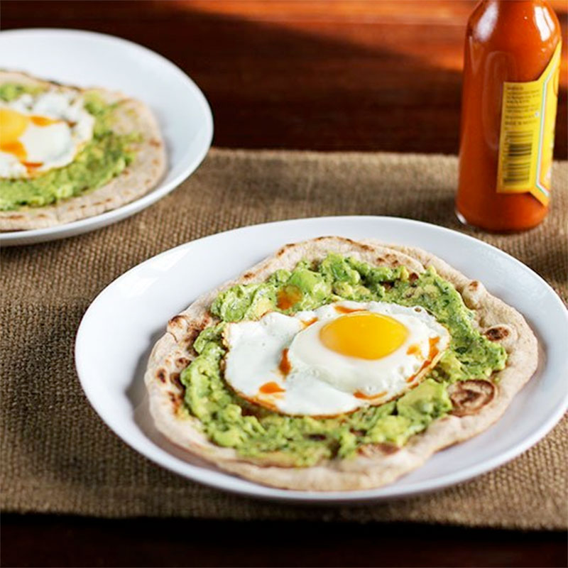 Avocado and Egg Breakfast Pizza